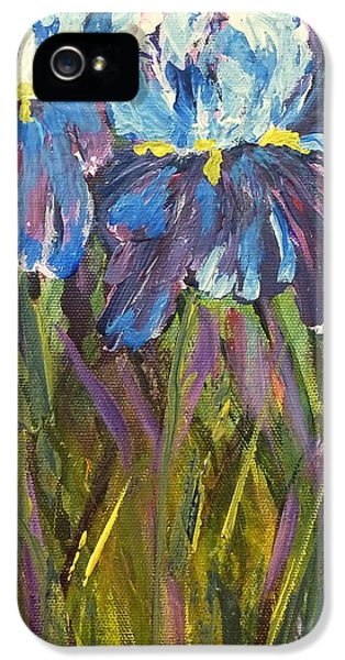 IPhone 5s Case featuring the painting Iris Floral Garden by Claire Bull