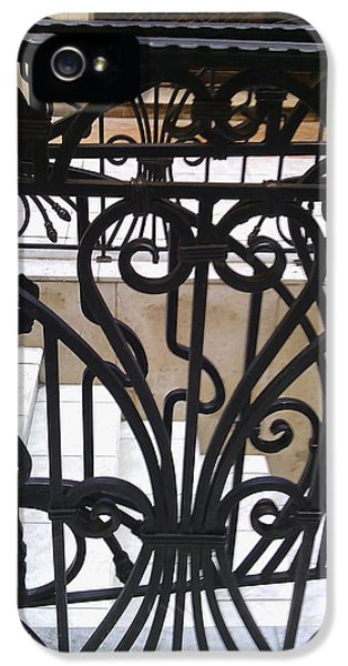 Decorative iPhone 5s Case - Iron Decorative Heart by Anamarija Marinovic