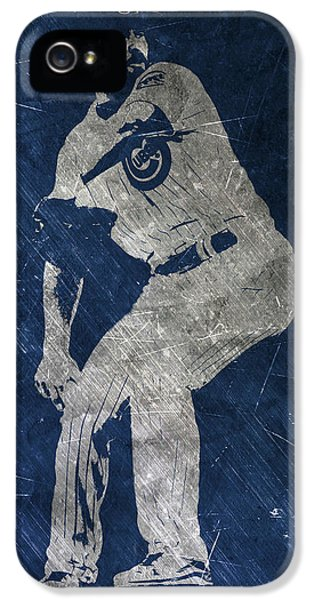 Professional Baseball Teams iPhone 5s Case - Jake Arrieta Chicago Cubs Art by Joe Hamilton