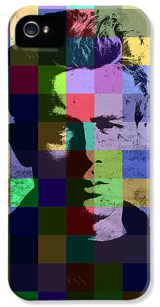 James Dean Actor Hollywood Pop Art Patchwork Portrait Pop Of Color IPhone 5s Case by Design Turnpike