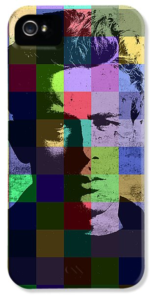 James Dean Actor Hollywood Pop Art Patchwork Portrait Pop Of Color IPhone 5s Case by Design Turnpike