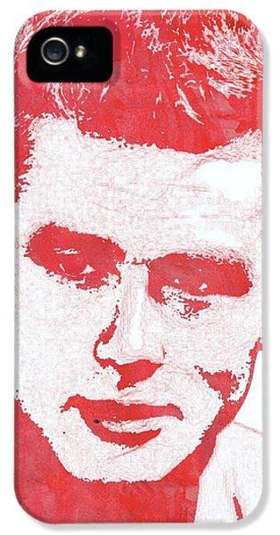 James Dean Pop Art IPhone 5s Case by Mary Bassett