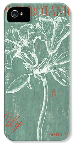 Lily iPhone 5s Case - Jardin Botanique Aqua by Debbie DeWitt