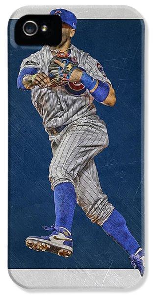 Chicago Cubs iPhone 5s Case - Javier Baez Chicago Cubs Art by Joe Hamilton