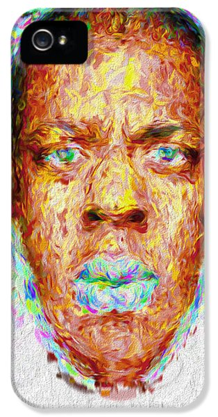 Jay Z Painted Digitally 2 IPhone 5s Case by David Haskett