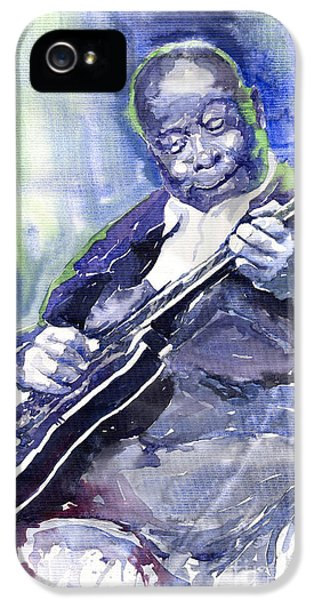 Jazz iPhone 5s Case - Jazz B B King 02 by Yuriy Shevchuk