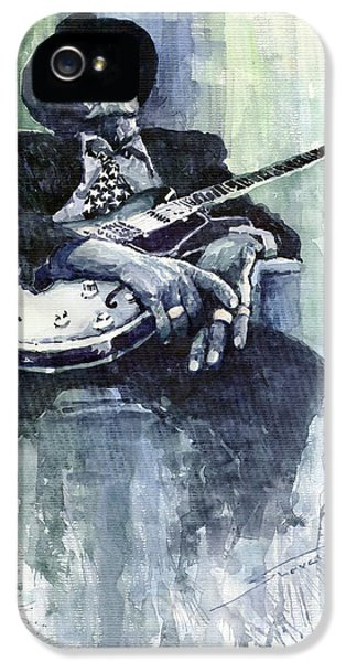 Jazz iPhone 5s Case - Jazz Bluesman John Lee Hooker 04 by Yuriy Shevchuk