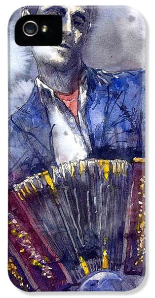 Jazz iPhone 5s Case - Jazz Concertina Player by Yuriy Shevchuk