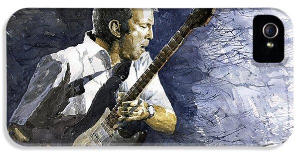 Musicians iPhone 5s Case - Jazz Eric Clapton 1 by Yuriy Shevchuk