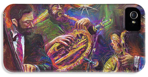Jazz Jazzband Trio IPhone 5s Case by Yuriy  Shevchuk