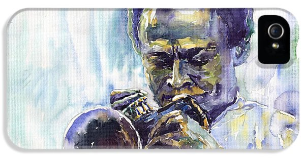 Jazz iPhone 5s Case - Jazz Miles Davis 10 by Yuriy Shevchuk