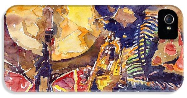 Figurative iPhone 5s Case - Jazz Miles Davis Electric 2 by Yuriy Shevchuk