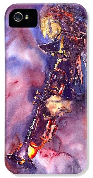 Figurative iPhone 5s Case - Jazz Miles Davis Electric 3 by Yuriy Shevchuk