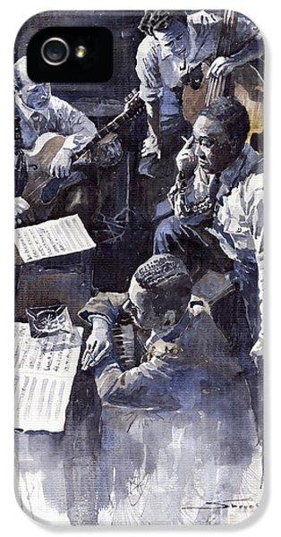 Jazz iPhone 5s Case - Jazz Parker Tristano Bauer Safransky Rca Studio Ny 1949 by Yuriy Shevchuk