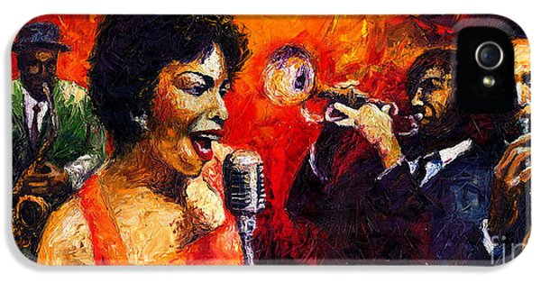 Jazz iPhone 5s Case - Jazz Song by Yuriy Shevchuk