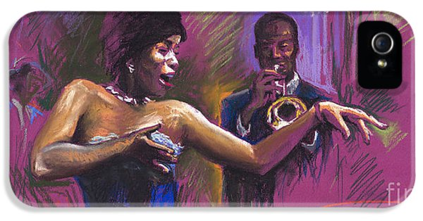 Trumpet iPhone 5s Case - Jazz Song.2. by Yuriy Shevchuk