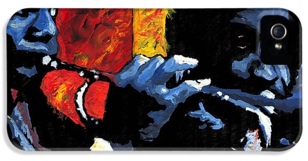 Impressionism iPhone 5s Case - Jazz Trumpeters by Yuriy Shevchuk