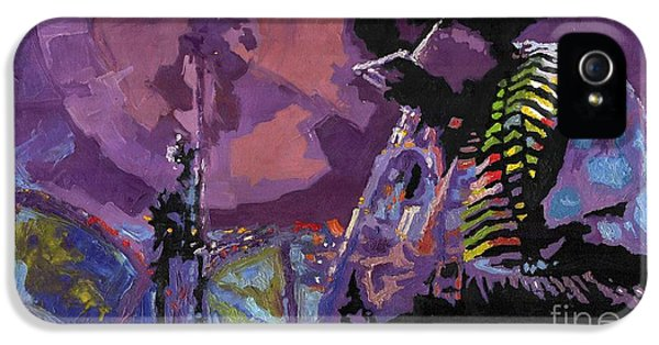 Trumpet iPhone 5s Case - Jazz.miles Davis.4. by Yuriy Shevchuk