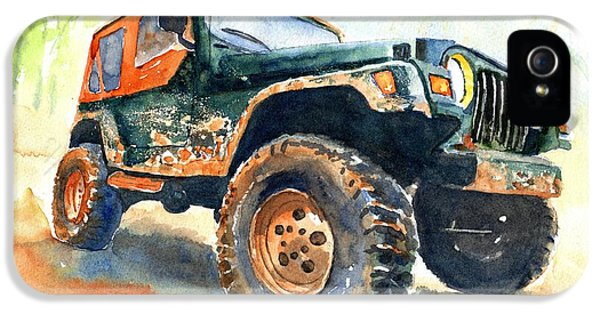 Car iPhone 5s Case - Jeep Wrangler Watercolor by Carlin Blahnik CarlinArtWatercolor