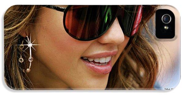 Jessica Alba iPhone 5s Case - Jessica Alba, Cool Shades by Thomas Pollart