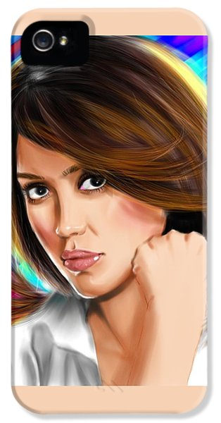 Jessica Alba IPhone 5s Case by Isaac Martinez