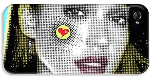 Jessica Alba iPhone 5s Case - Jessica Alba Pop Art, Portrait, Contemporary Art On Canvas, Famous Celebrities by Dr Eight Love