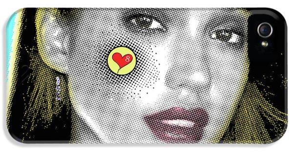 Jessica Alba Pop Art, Portrait, Contemporary Art On Canvas, Famous Celebrities IPhone 5s Case by Dr Eight Love