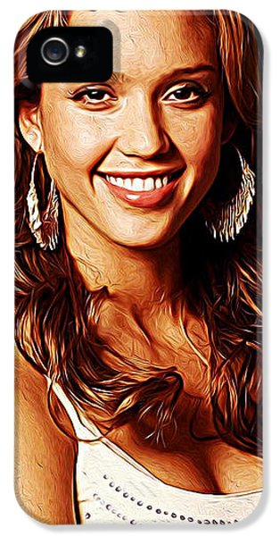 Jessica Alba IPhone 5s Case by Iguanna Espinosa
