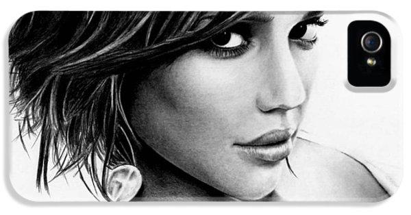 Jessica Alba iPhone 5s Case - Jessica Alba  by Rick Fortson