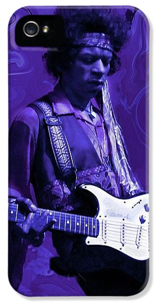 Rock And Roll iPhone 5s Case - Jimi Hendrix Purple Haze by David Dehner