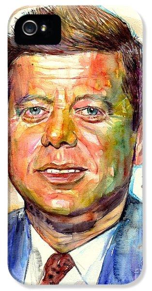 Harvard iPhone 5s Case - John F. Kennedy Painting by Suzann's Art