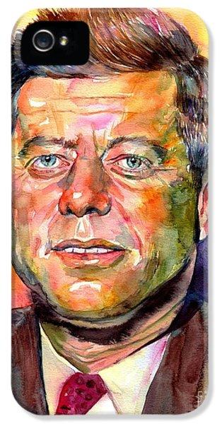 Harvard iPhone 5s Case - John F. Kennedy Watercolor by Suzann's Art