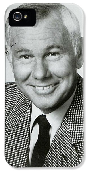 Johnny Carson iPhone 5s Case - Johnny Carson Autographed Print by Pd