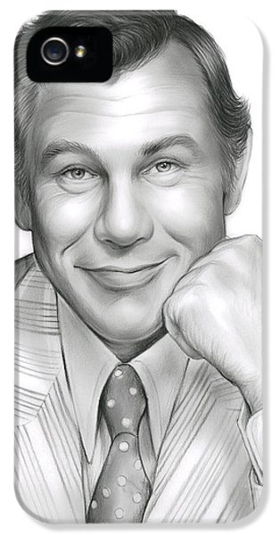 Johnny Carson IPhone 5s Case by Greg Joens