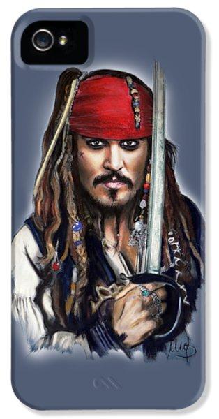 Johnny Depp As Jack Sparrow IPhone 5s Case by Melanie D