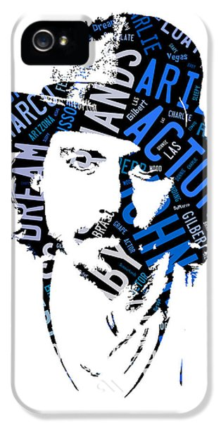 Johnny Depp Movie Titles IPhone 5s Case by Marvin Blaine