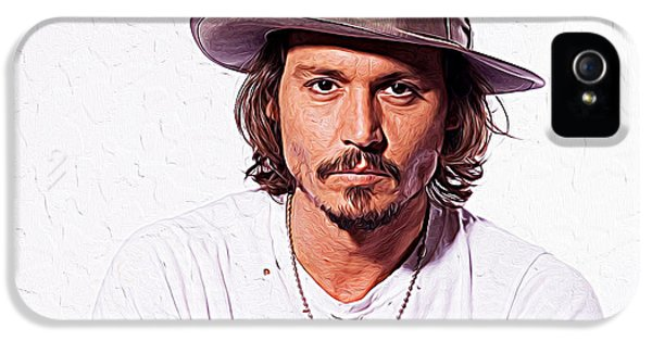 Johnny Depp IPhone 5s Case by Iguanna Espinosa