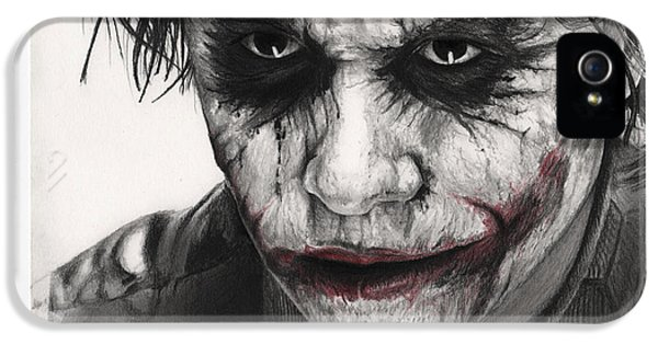 Joker Face IPhone 5s Case by James Holko