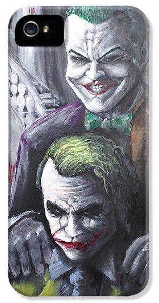 Jokery In Wayne Manor IPhone 5s Case by Tyler Haddox