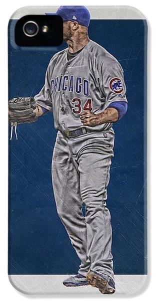 Chicago Cubs iPhone 5s Case - Jon Lester Chicago Cubs Art by Joe Hamilton