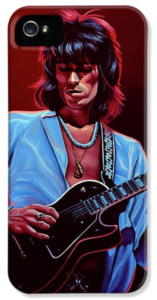 Musicians iPhone 5s Case - Keith Richards The Riffmaster by Paul Meijering