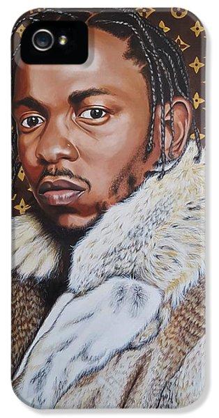 Biggie iPhone 5s Case - Kendrick Lamar X Louis Vuitton Monogram Painting by Junko Abe
