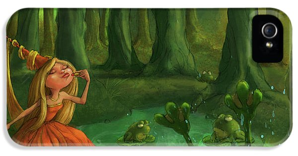 Kissing Frogs IPhone 5s Case by Andy Catling