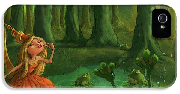 Amphibians iPhone 5s Case - Kissing Frogs by Andy Catling