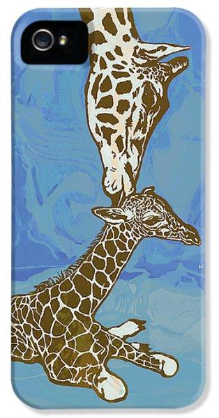 Kissing - Giraffe Stylised Pop Art Poster IPhone 5s Case