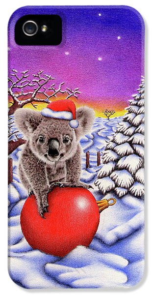 Koala On Christmas Ball IPhone 5s Case by Remrov