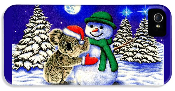 Koala With Snowman IPhone 5s Case by Remrov