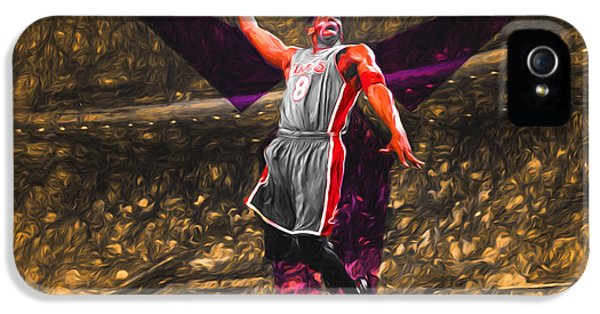 Kobe Bryant Black Mamba Digital Painting IPhone 5s Case by David Haskett