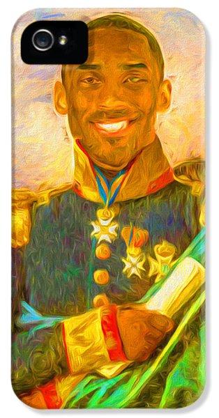 Kobe Bryant Floor General Digital Painting La Lakers IPhone 5s Case by David Haskett
