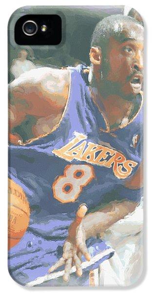 Kobe Bryant Lebron James IPhone 5s Case by Joe Hamilton